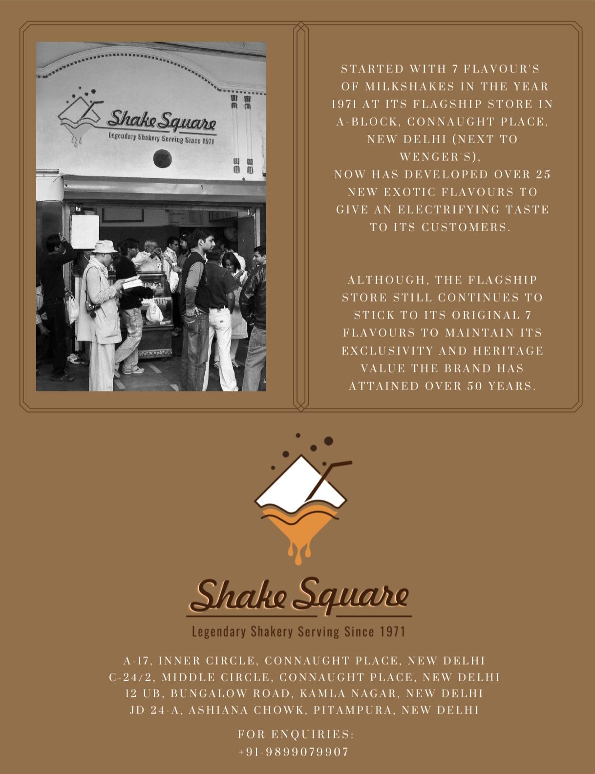 ShakeSquare Menu